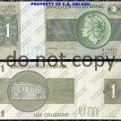Brazil 1 Cruzerio Foreign Paper Money