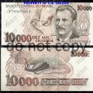 Brazil 10,000 Cruzeiros Foreign Paper Money