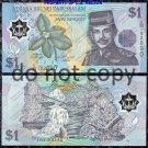 Brunei 1 Ringitt Polymer Banknote Foreign Money