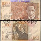 Columbia 1000 Mil Pesos Foreign Banknote Money