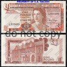 Gibraltor 1 Pound Foreign Paper Money