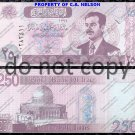 Iraq 250 Dinars Saddam Hussein Foreign Paper Money