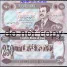 Iraq 250 Dinar Large Purple Foreign Paper Money
