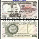 Mozambique 50 Escudos Foreign Paper Money Banknote