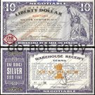 NORFED Liberty Dollar $10 Dollars World Paper Note