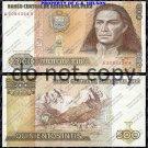 Peru 500 Intis Foreign Paper Money Banknote