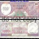 Suriname 100 Gulden 1985 Foreign Paper Money Banknote