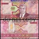 Turkmenistan 100 Manat Foreign Paper Money Banknote