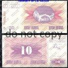 Bosnia 10 Dinara Foreign Paper Money Banknote