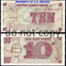 Great Britain 10 Pence Foreign Paper Money Banknote
