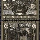 German Notgeld 50 Pfennig Munster Foreign Paper Money 1921