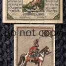 German Notgeld 90 Pfennig Cavalry #2 Foreign Paper Money 1921
