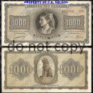 Greece 1,000 Drachma Foreign Paper Money 1942