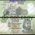 Hungary 200 Forint Foreign Paper Money Banknote