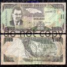 Jamaica $100 Dollars Circulated Foreign Paper Money