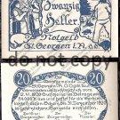 Austria Notgeld 20 Heller Foreign Paper Money 1920