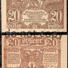 Austria Notgeld 20 Heller Foreign Paper Money 1921