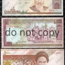 Iran 3pc. High Rials Banknote Set Foreign Banknote Lot