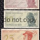 Indonesia 5pc. Sen Banknote Set Foreign Paper Money