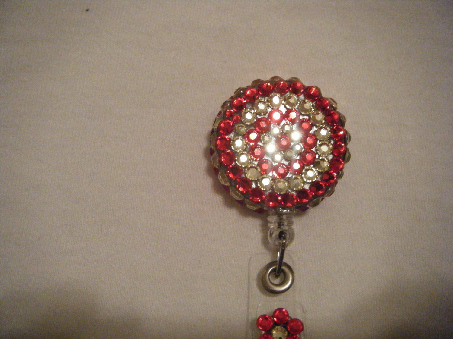 Red and Jonquil Badge Holder
