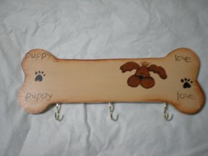 Puppy Love Dog Bone Leash Holder 2