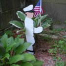 Sailor Garden Stake Flag Holder (Navy/Coast Guard)