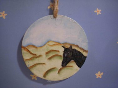 Western Horse Gift Tag