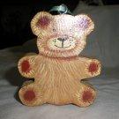Chunky Bear Ornament, Gift Tag, Decoration