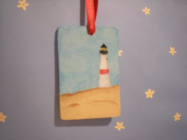 Lighthouse Ornament Gift Tag