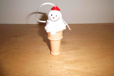 White Snow Cone Ornament