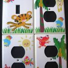 Fisher Price RAINFOREST LIGHT SWITCH & OUTLET COVERS