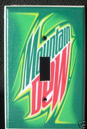 MOUNTAIN DEW LIGHT SWITCH COVER  COOL LOOK! Unique