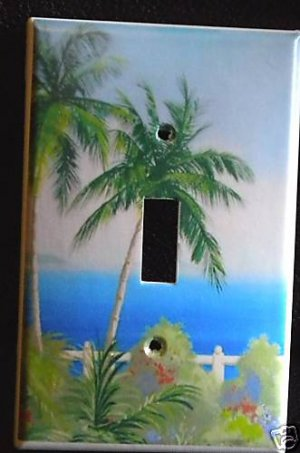 PALM TREES LIGHT SWITCH COVER LOOK Beach decor