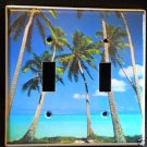 TROPICAL PALM TREES DOUBLE LIGHT SWITCH COVER Beautiful