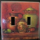 TUSCAN URNS DOUBLE LIGHT SWITCH COVER  BEAUTIFUL! LOOK!
