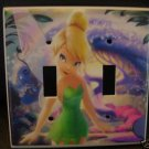 TINKERBELL DOUBLE LIGHT SWITCH COVER  Fairies FREE SHIP