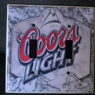 COORS LIGHT DOUBLE LIGHT SWITCH COVER Beer *Look!