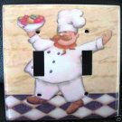 FAT CHEF WITH FRUIT DOUBLE LIGHT SWITCH COVER FREE SHIP