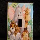 JUNGLE BABIES LIGHT SWITCH PLATE *ADORABLE * Patty Reed