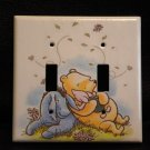 CLASSIC POOH DOUBLE LIGHT SWITCH COVER *CUTE*