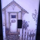 Linda Spivey OUTHOUSES LIGHT SWITCH COVER bath decor