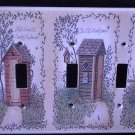 Linda Spivey OUTHOUSES TRIPPLE LIGHT SWITCH COVER decor