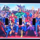 MARVEL SUPER HEROES TRIPPLE LIGHT SWITCH COVER Cool!