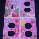 New STRAWBERRY SHORTCAKE LIGHT SWITCH & OUTLETS PINK