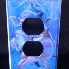 DOLPHINS OUTLET PLATE COVER LOOK beautiful blue water