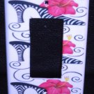 ZEBRA HIGH HEEL Hot PINK Flower Rocker LIGHT SWITCH GFI
