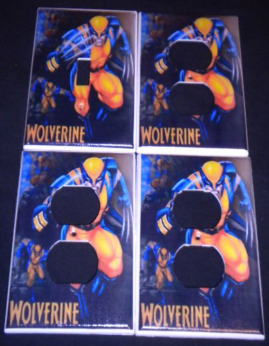 MARVEL WOLVERINE LIGHT SWITCH & OUTLET COVERS Cool!