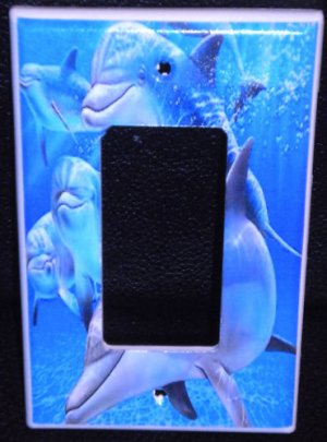 DOLPHINS ROCKER LIGHT SWITCH COVER / GFI OUTLET LOOK