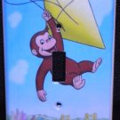 CURIOUS GEORGE LIGHT SWITCH COVER Monkey with Kite CUTE