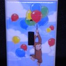 CURIOUS GEORGE LIGHT SWITCH COVER BLUE clouds & ballons